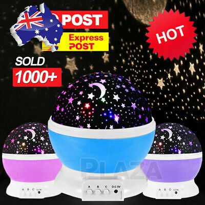 AU19.95 • Buy LED Night Star Sky Projector Light Lamp Rotating Starry Baby Room Kids Gift