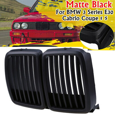 $43.97 • Buy Matte Black Sport Grill Front Hood Grill Kidney Grill Fit For BMW E30 1982-1994