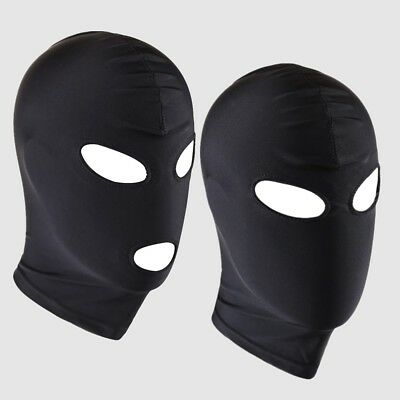 £2.98 • Buy Men Women Eyes & Mouth Holes Blindfold Hoods Face Cover Spandex Costumes