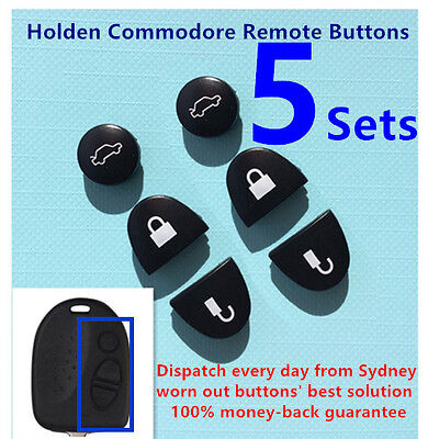 AU8.90 • Buy 5 Sets Key Remote Buttons Holden Commodore Key Buttons VS VZ WH WK WL VT VX VY