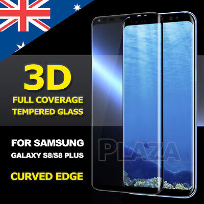 AU6.85 • Buy Galaxy S8 S8 S9 Plus Genuine 3D Tempered Glass Full Cover Guard Screen Protector