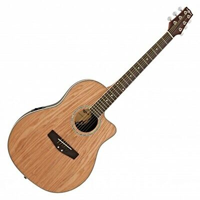 £114.99 • Buy Deluxe Roundback Electro Acoustic Guitar By Gear4music Natural