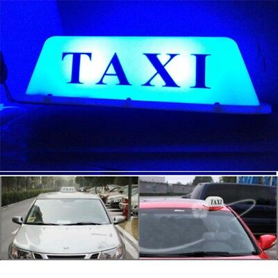 $23.99 • Buy 12V 9 LED Taxi Cab Sign Roof Top Topper Car Super Bright Light Lamp White Shell