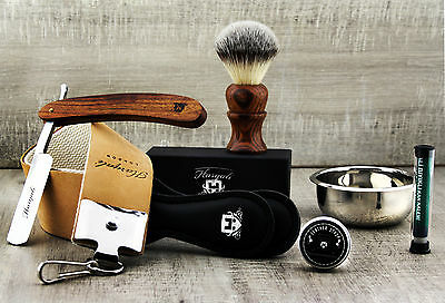 5 Piece Vintage Style Men's Shaving Set With Cut Throat Razor (Old Barber Style) • 34.82£