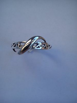 Twisted Celtic Ring Sterling Silver Ladies / Girls Thumb Finger Various Sizes • 12.99£