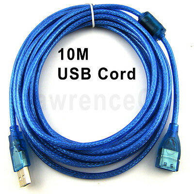 AU19.99 • Buy Blue Shield 10M USB 2.0 Extension Data Cable Cord Male To Female W/ Magnet Loop