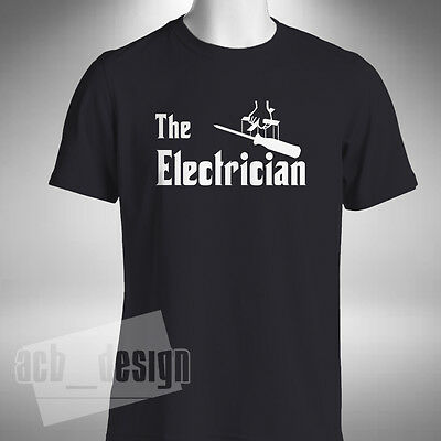 The Electrician Mens T Shirt God Father Style Sparky Screwdriver Electrical • 9.99£