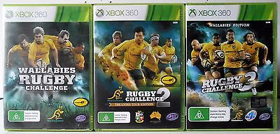 AU39.95 • Buy Rugby Challenge 3, Rugby Challenge 2 And Wallabies Rugby Challenge Xbox 360