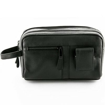 AU103.95 • Buy Sonnenschein Toiletry Leather Bag With Manicure Set Mens Shaving Travel Wash Bag
