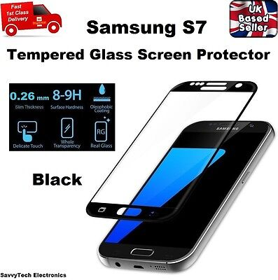 $ CDN7.95 • Buy Full Screen Coverage Tempered Glass Screen Protector For Samsung Galaxy S7 BLACK