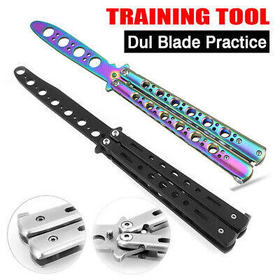 AU12.85 • Buy CSGO Balisong Butterfly Knife Trainer Training Practice Metal Steel Tool Sheath