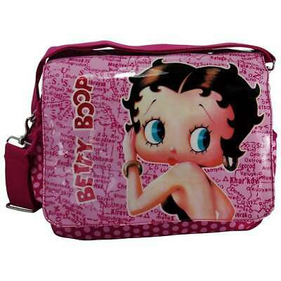 £19.95 • Buy Betty Boop Pink Maps Shoulder Messenger School Bag New With Tags
