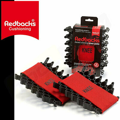 REDBACKS Rubber Leaf Spring Flexible Knee Pads Inserts For Work Trousers Pocket • 23.99£