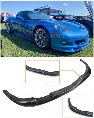 $164.99 • Buy ZR1 Style Front Bumper Lower Splitter Lip Spoiler Kit For 05-13 Corvette C6 Z06