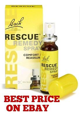 Bach Rescue Remedy Spray 20ml Best Price Expiry Date April 2024 • 7.85£