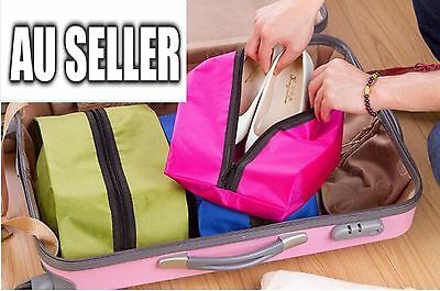 AU5.50 • Buy Waterproof Laundry Shoe Travel Pouch Storage Portable Zipper Tote Bag Organizer
