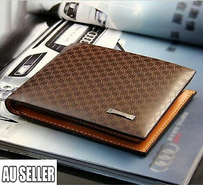 AU11.99 • Buy Men's Leather Wallet Pocket Card Clutch ID Credit Bifold Purse Fashion New