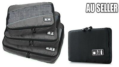 AU29.99 • Buy Travel Bag 4 Set Packing Cubes Luggage Packing Organizers Fit 23  Suitcase