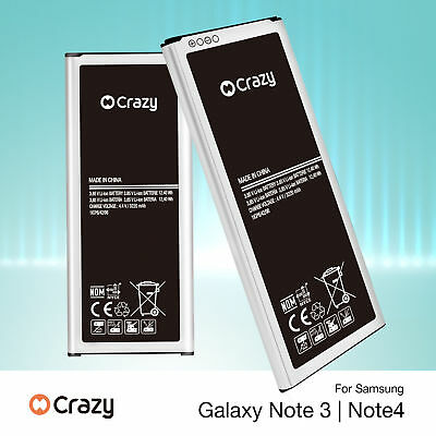 AU11.95 • Buy New Genuine Crazy Replacement Battery For Samsung Galaxy Note 4 3 N9100 N9000