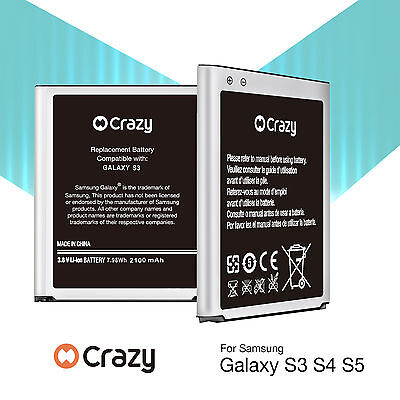 AU12.95 • Buy New Genuine Crazy Replacement Battery For Samsung Galaxy S3 S4 S5