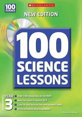 100 Science Lessons For Year 3 With CDRom By Malcolm Anderson • 2.82£