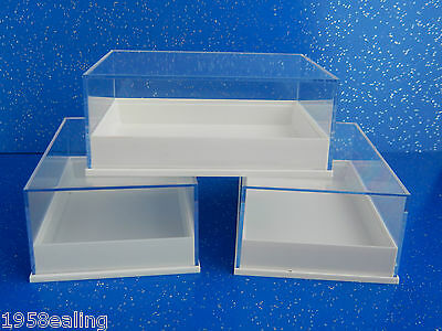 £8.99 • Buy 12 Perspex Clear Lid  Specimen Display Boxes Shell Minerals Gems Fossil Geology