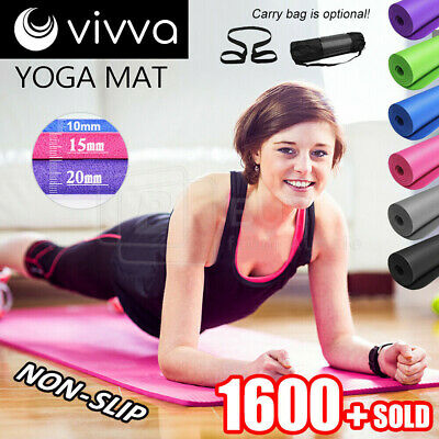 AU38.98 • Buy VIVA 10/15/20MM Thick Yoga Mat Pad Nonslip Exercise Fitness Pilate Gym 7Color OZ