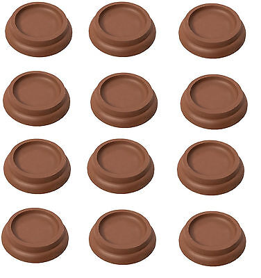 12Large Castor Cups Furniture Carpet /Sofa /Bed /Chair FLOOR PROTECTOR GLIDES • 5.69£