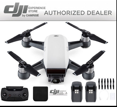 AU581.48 • Buy DJI Spark Drone Quadcopter Remote Plus Extra Battery Bundle In White