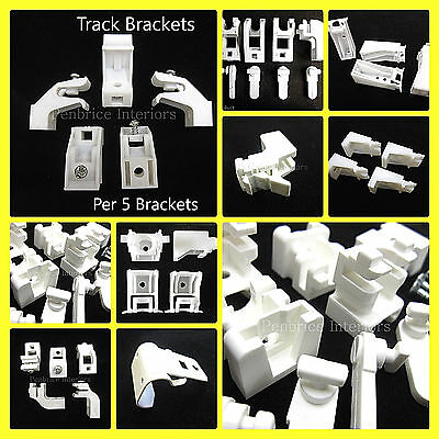 Curtain Track Brackets - SOLD PER 5 - Rail Support Fixing Fittings - All Types • 9.74£