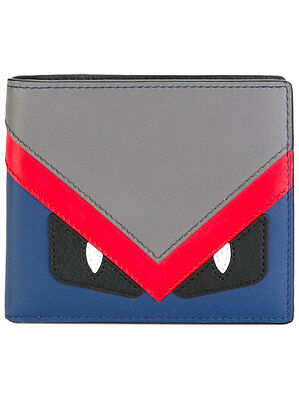 b69cd886ac08cc SALE NWT FENDI Men's Classic Bag Bugs Multicolors Monster Bifold Wallet  ITALY • 439.99$