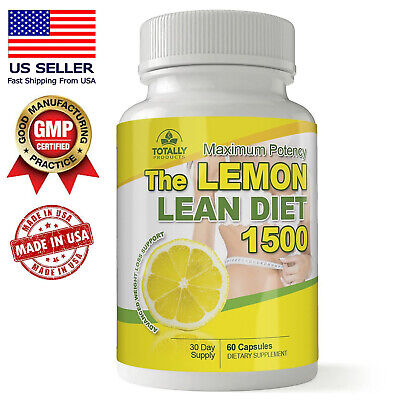 $14.99 • Buy Lemon Lean Diet 60 Caps Fat Burn 1500mg Keto Max Potency Support Free Shipping