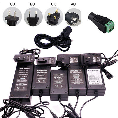 $ CDN5.08 • Buy Power Supply Adapter 12V/9V/5V/24V 1A 2A 3A 5A 6A 8A 10A For LED Light+Connector