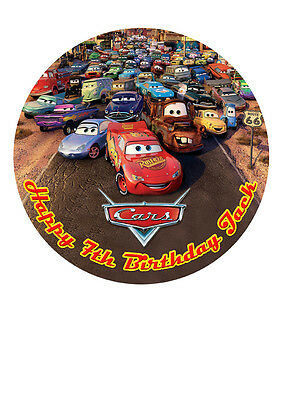 Cars Lightning McQueen Personalised Personalized Cake Topper Icing Sugar 7.5  M5 • 5.46£