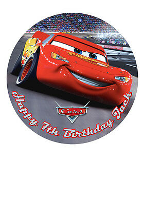 Cars Lightning McQueen Personalised Personalized Cake Topper Icing Sugar 7.5  M1 • 5.46£