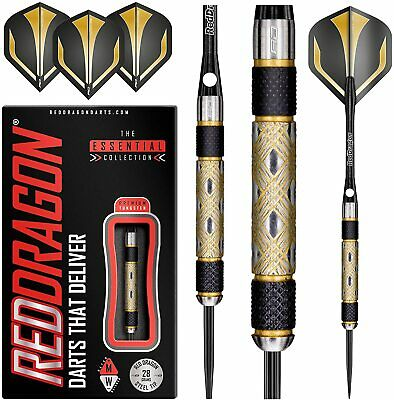 Tungsten Darts Set 22grams,24g,26g,28g,30g,32g Red Dragon™ Golden Eyes Steeltip • 24.95£