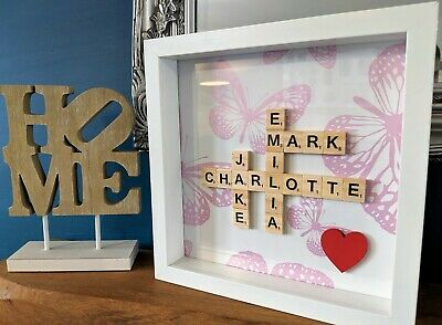 Pink Butterfly - Scrabble Personalised Picture Frames • 21.49£