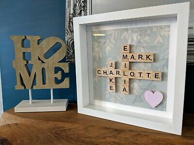 Scrabble Personalised Picture Frames - Flowers • 21.49£