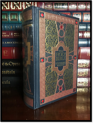 The Holy Bible KJV Illustrated By G. Dore New Sealed Leather Bound Gift Hardback • 28.37£