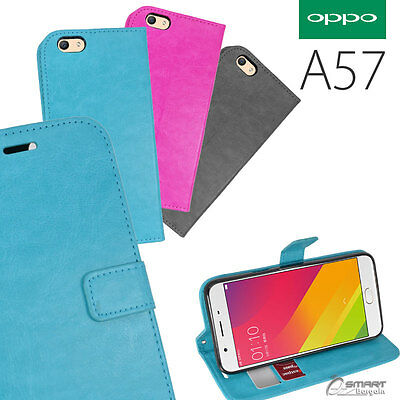 AU6.99 • Buy Wallet Flip Card Slot Stand Case Cover For Oppo Oppo A57