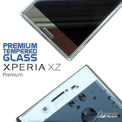 AU4.99 • Buy Tempered Glass Screen Protector Guard For Sony Xperia XZ Premium