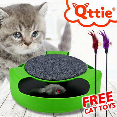 AU14.54 • Buy Motion Kitten Cat Toy Catch Mouse Scratch Pad Funny Chase Interactive Training
