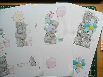 £17.50 • Buy 3 Sheets Tatty Teddy Decoupage-all Different-11 Packs To Choose - A4
