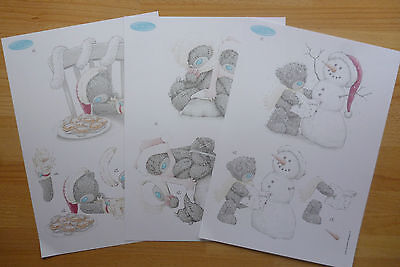 £4.50 • Buy 3 Sheets Tatty Teddy Xmas Decoupage-all Different-11 Packs To Choose - A4