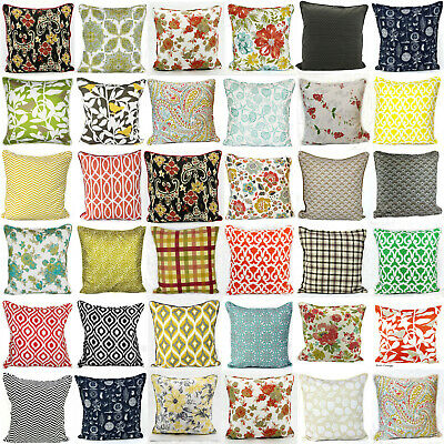New Decorative Luxurious Beautiful 100% Soft Cotton Printed Cushion Covers Couch • 5.85£