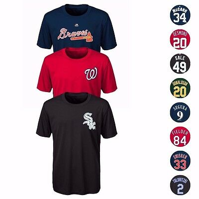 $3.99 • Buy MLB Majestic Name & Number Player Jersey Infant Toddler Youth T-Shirt Collection