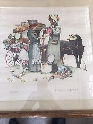 $ CDN7115.60 • Buy Norman Rockwell Lithograph Country Pedlar Size21x21   327 Of 350