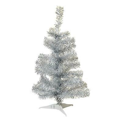 £6.49 • Buy Silver Christmas Tree Xmas Artificial Traditional Pine Small With Stand 2ft 60cm