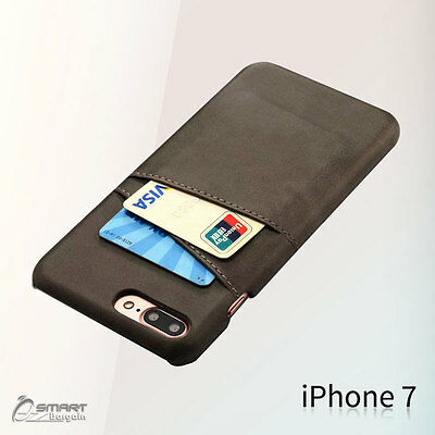 AU5.99 • Buy PU Leather Card Holder Wallet Back Case Cover For IPhone 6 6s IPhone 7 7 Plus