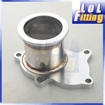 $ CDN38.23 • Buy T3/T4 Turbo 5 Bolt Exhaust Turbo Down Pipe Flange To 2.5  63mm V Band Adapter